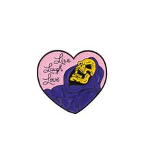 Skeletor viola Dello Smalto Spille Mech mago Giallo Skull Distintivi e Simboli Spille Sacchetto di Vestiti del Risvolto Spille Classico Dei Monili Del Fumetto Punk Bone Spilli(China)