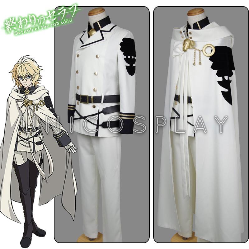 Seraph End Mikaela Hyakuya Cosplay Costume Anime Cos Owari Serafu Hot Halloween Vampire Uniform Cloak Full set - uniCosplay store