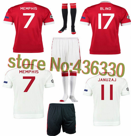 Гаджет  free shipping14 15 chester home red soccer jersey full set football jersey with shirt ,shorts and socks,ROONEY FALCAO jersey None Спорт и развлечения