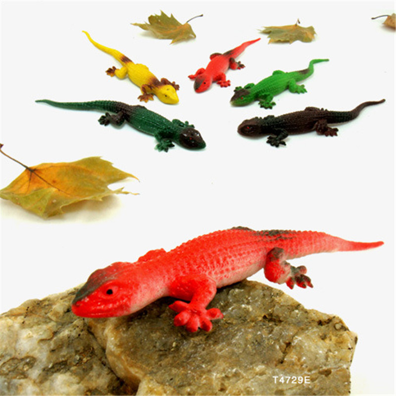 Funny novelty items Simulation spoofing gecko prank supplies jake toy lizard gag gifts kids toys 5 pcs(China (Mainland))