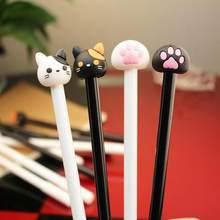 Гелевая ручка с рисунком кролика Тоторо, нейтральные ручки, креативные канцелярские принадлежности для школьников, студентов, черная ручка...(China)
