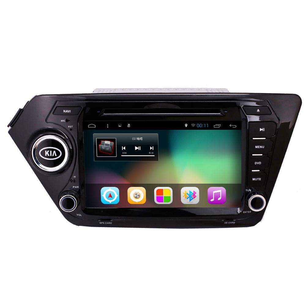 Android 4.4 Quad Core Car DVD Video Player For Kia K2 Rio 2010 2011 2012 2013 2014 2015gps Navigation Radio RDS bluetooth Wifi(China (Mainland))