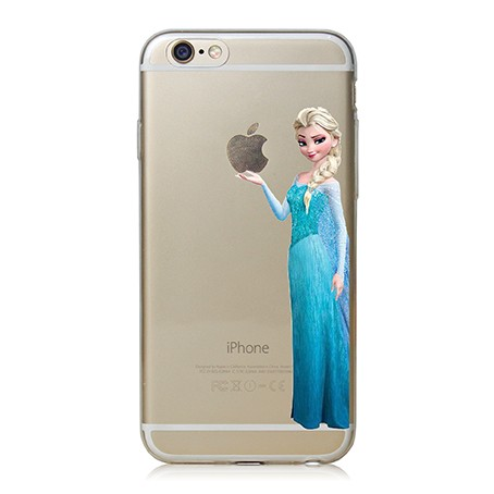 2014 New Cute Design Case Cover For Apple i Phone iPhone 6 6s Plus 5.5 inch 5.5″ Princess Snow White Mermaid Eat LOGO Shell