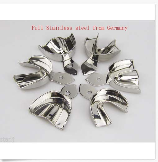 6PCS Dental Impression Trays Full Stainless steel  dental tray without hole 3 types<br><br>Aliexpress