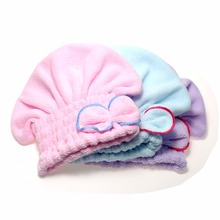 2016 Useful  Hair Turban Wrapped Towel  Hair Quickly Dry Hat Microfiber Home Textile(China (Mainland))