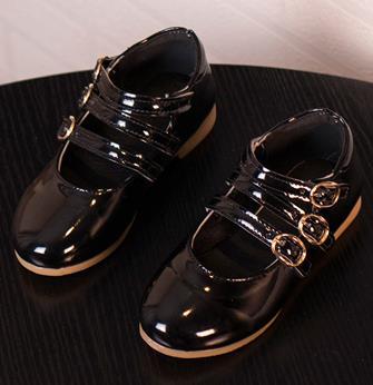Girls princess leather shoes spring 2016 brand childrens fashion black single soft kids party elsa shoes infantis 444b<br><br>Aliexpress
