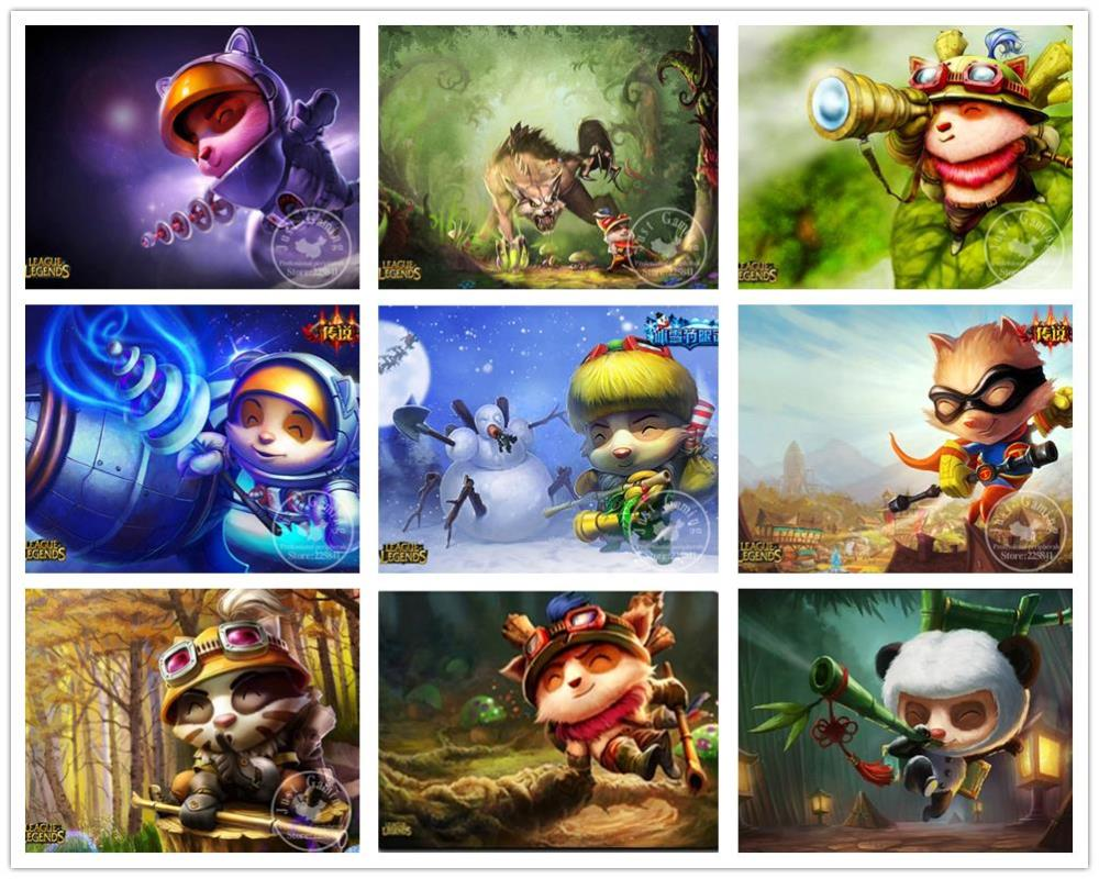 League of Legends figure Swift Scout Teemo pattern anime game Mouse Pad 300x220x4MM league of legends teemo(China (Mainland))