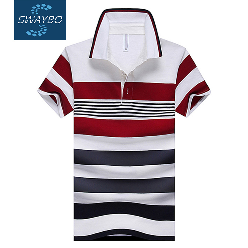 2016 Famous Brand Designer Mens POLO Shirt Summer White Red Striped Slim Cotton Tennis Collar Tee For Male Plus Size XXXXL P1649(China (Mainland))