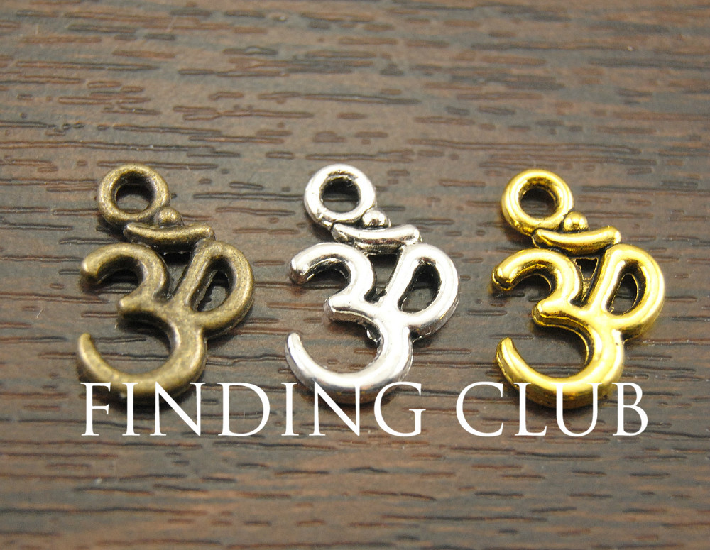 Гаджет  Free Shipping 50 pcs Antique Silver OM Aum Ohm Mantra Sign Charm Pendant 15x10mm  Charms Pendant Fit Jewelry Making  A13 None Ювелирные изделия и часы
