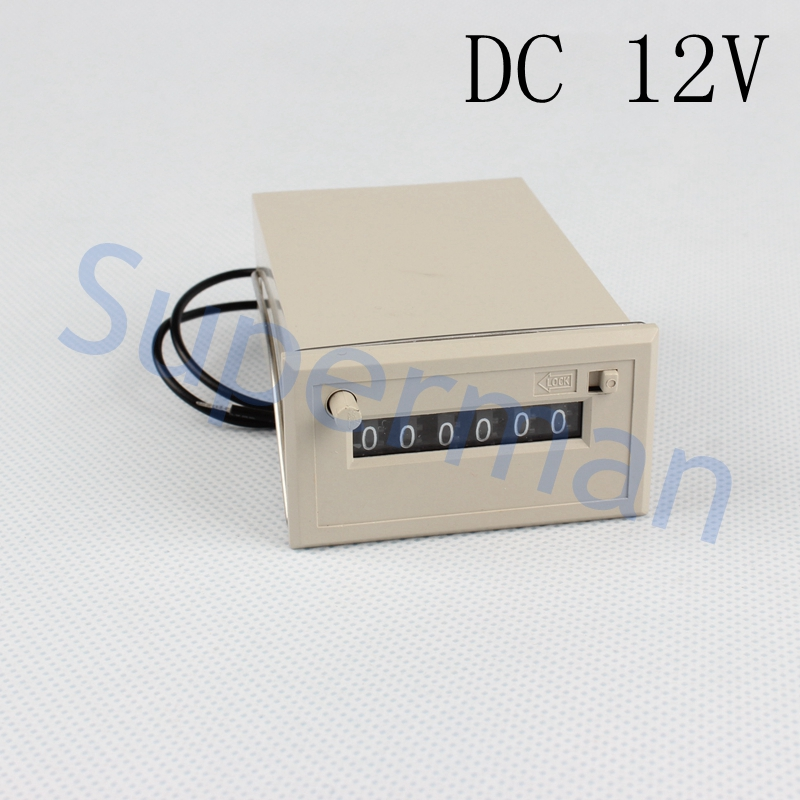 CSK6-NKW 6 digit Electromagnetic counter with manual lock, reset button DC12V switch(China (Mainland))
