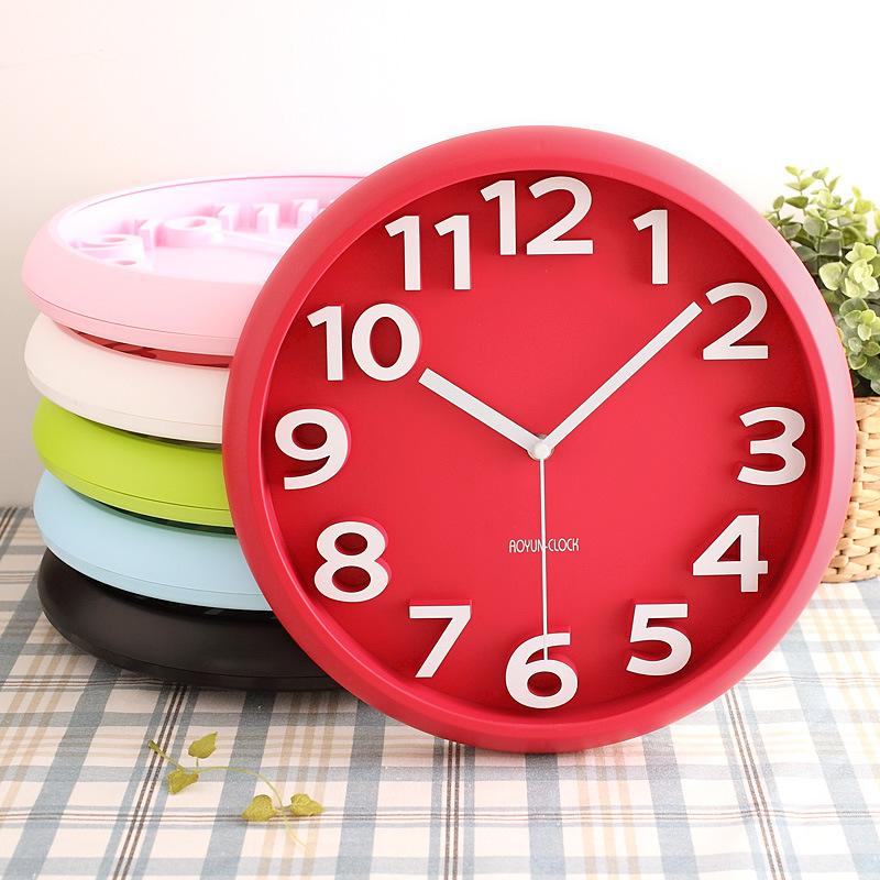 3D Fashion Candy wall clock circular digital clocks mute watches modern design home decor 3d clok decorative kids wall clocks(China (Mainland))