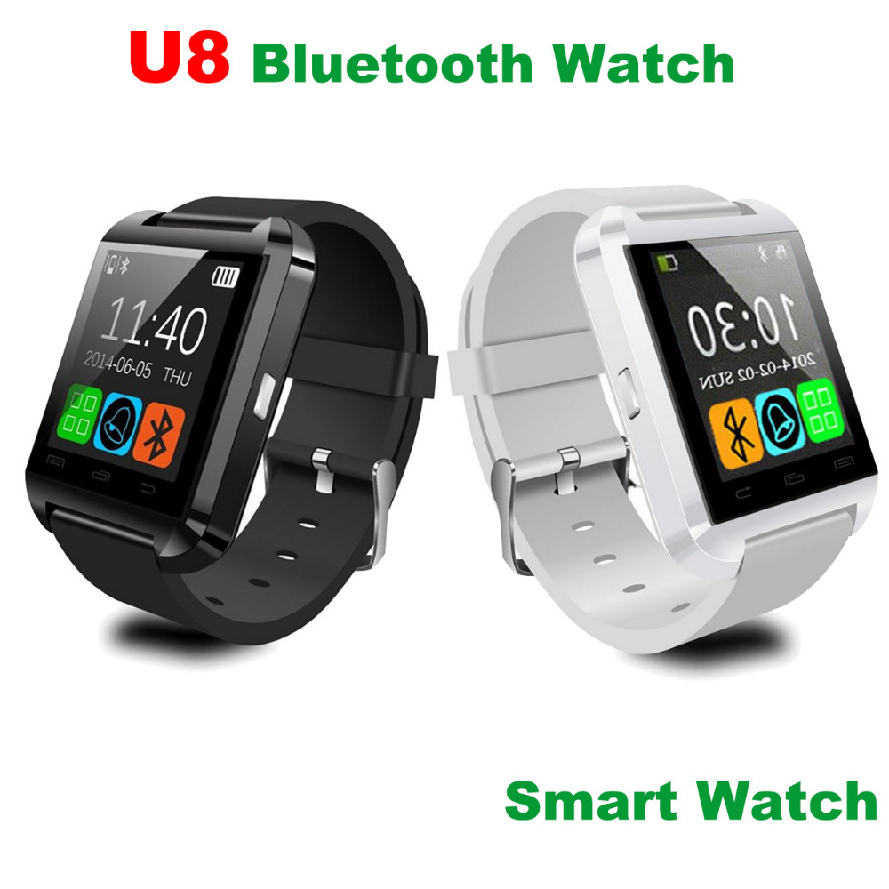 U8 Bluetooth Watch Wristwatch U Watch for iPhone 4/4S/5/5S Samsung S4/Note 2/Note 3 HTC Android Phone Smartphones(China (Mainland))