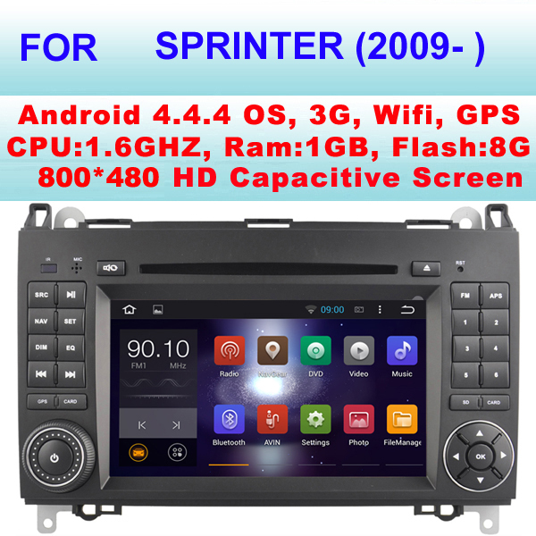 Car Radio android For Mercedes-Benz Sprinter Car DVD (2009- )With Android 4.4.4,Support WIFI 3G, Support 1080P HD Video Play(China (Mainland))