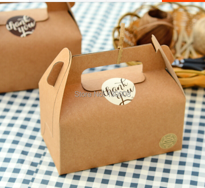 Wholesale Kraft paper cookie package Cake box, muffin biscuits box size 16.2*9.2*8cm Free Shipping(China (Mainland))