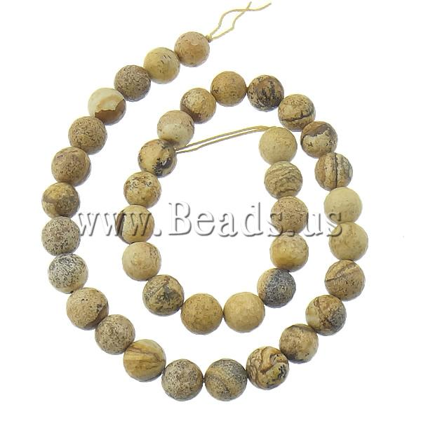 Free shipping!!!Picture Jasper Beads,Jewelry Accessories, Round, natural, 8mm, Hole:Approx 2mm, Length:15.5 Inch, 10Strands/Lot