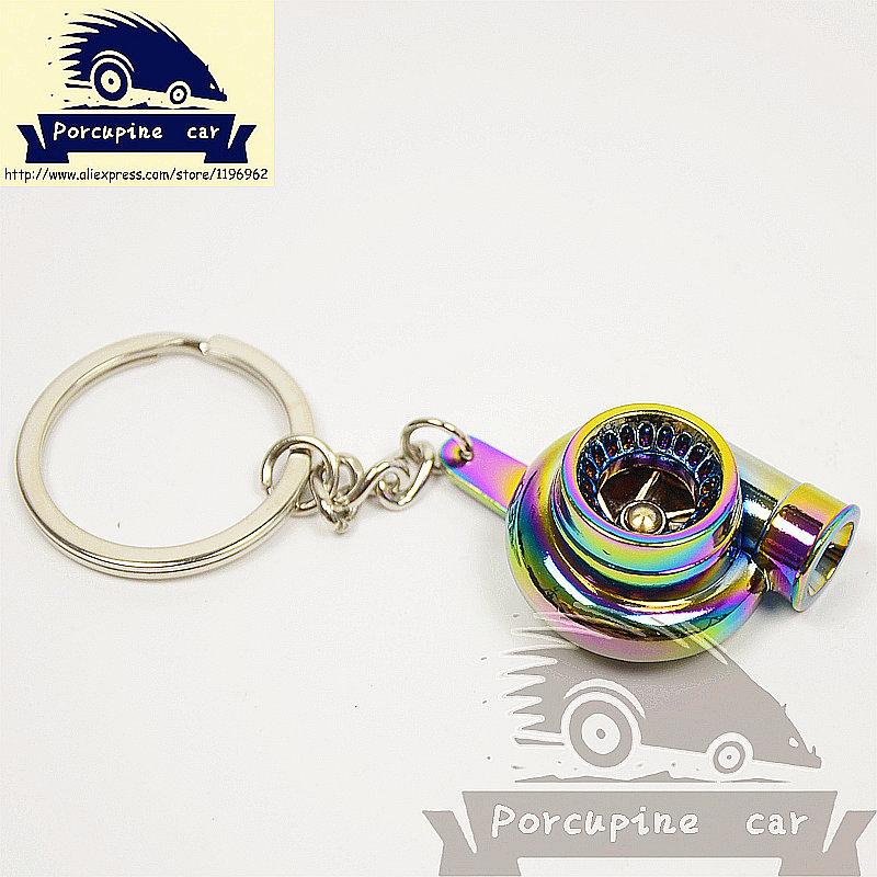 Sleeve Bearing Creative Automotive metal Turbo Charger Keychain Blower Car Key Ring Key Chain Jewelry Seven color car styling(China (Mainland))