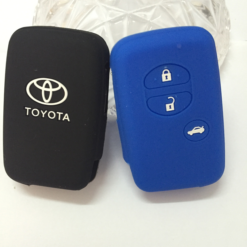 silicone key protection cover for TOYOTA Camry Highlander Prado Crown Land Cruiser Prius Aqua Hilux Rav4