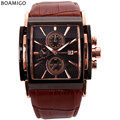 BOAMIGO Male Men s Watches Large Dial Fashion Casual Sports quartz watches rose gold sub dials