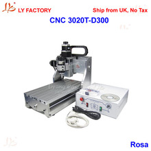 Ship from UK, No Tax for EU!!! LY 3020T-D300 Wood Router CNC Machine With 300W Low Noise Spindle Motor(China (Mainland))