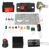 New DIY Electric Unit High quality DIY Kit LM317 Adjustable Regulated Voltage Step-down Power Supply Suite Module