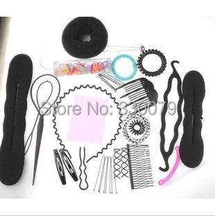 TS050 Free shipping 2017 new style Hairwear Sui ,Hair Device Suit Hair DIY Tool Set Jewelry Accessories For women