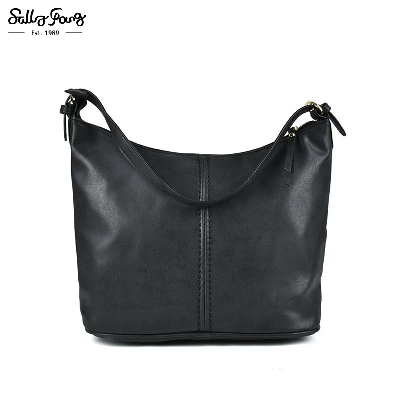 Sally Young International Brand Women Bag Casual Solid Luxury Handbags Women Bags Shoulder Bag Crescent Package 2Color TZ001(China (Mainland))
