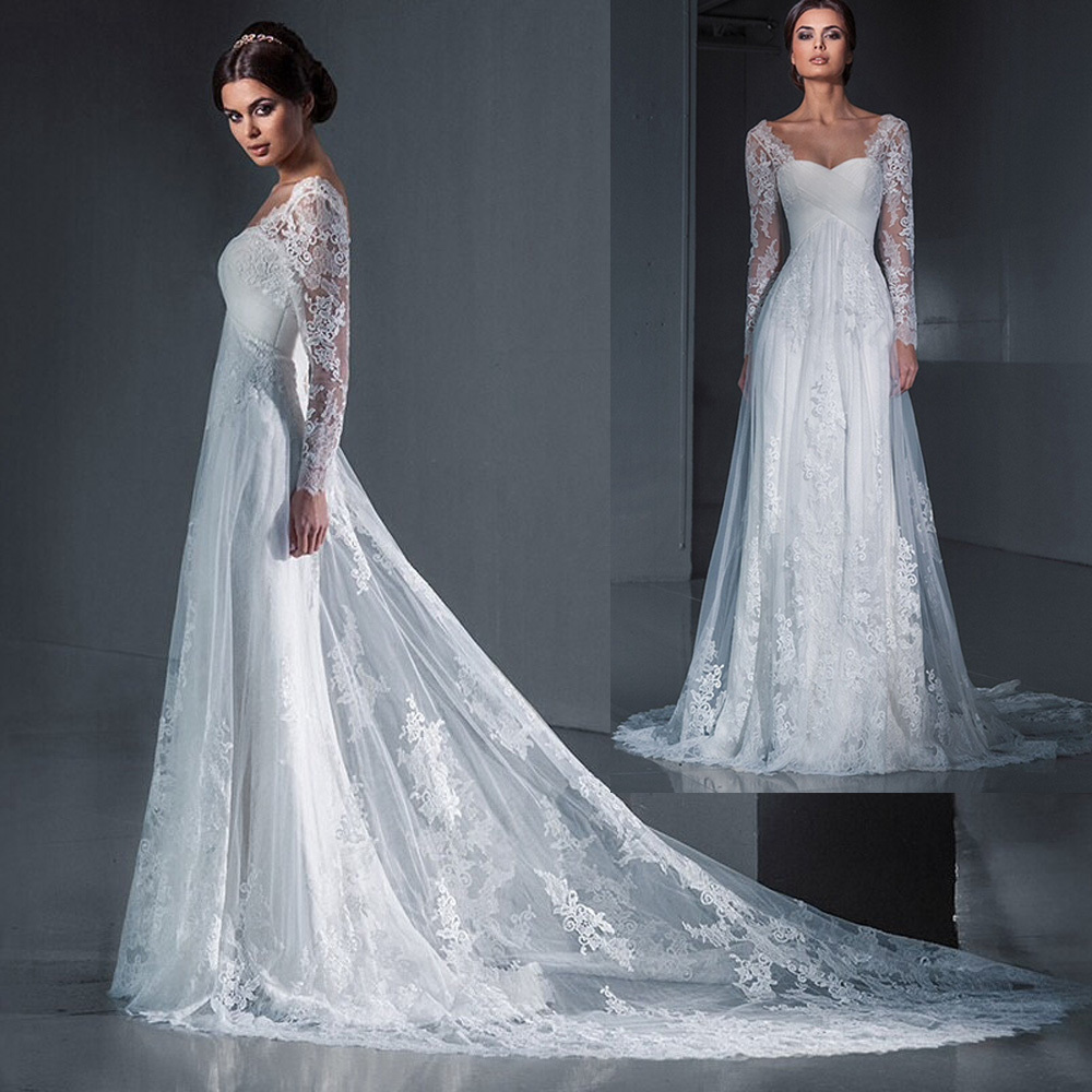 Long Sleeve Wedding Gowns: Aliexpress.com : Buy Best Sellers Bridal Gowns Simple Lace