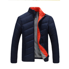 2015 Hot Sale Men Winter Jacket Korean Style Slim Fit Fashion cotton padded jacket Warm Thick for male Coat men's clothing MCJ32