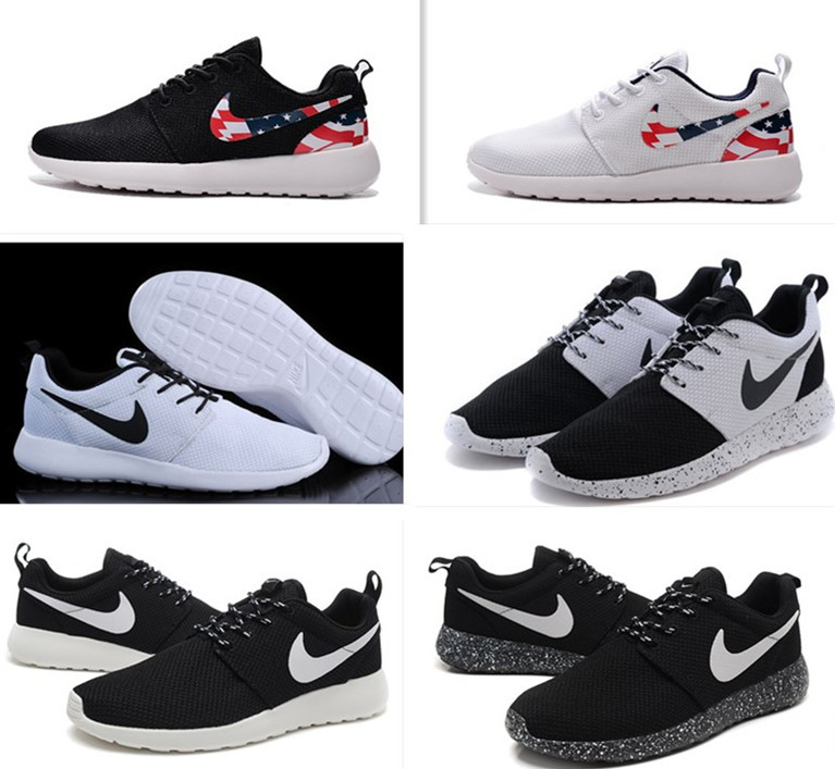 nike roshe black white tick mens nz