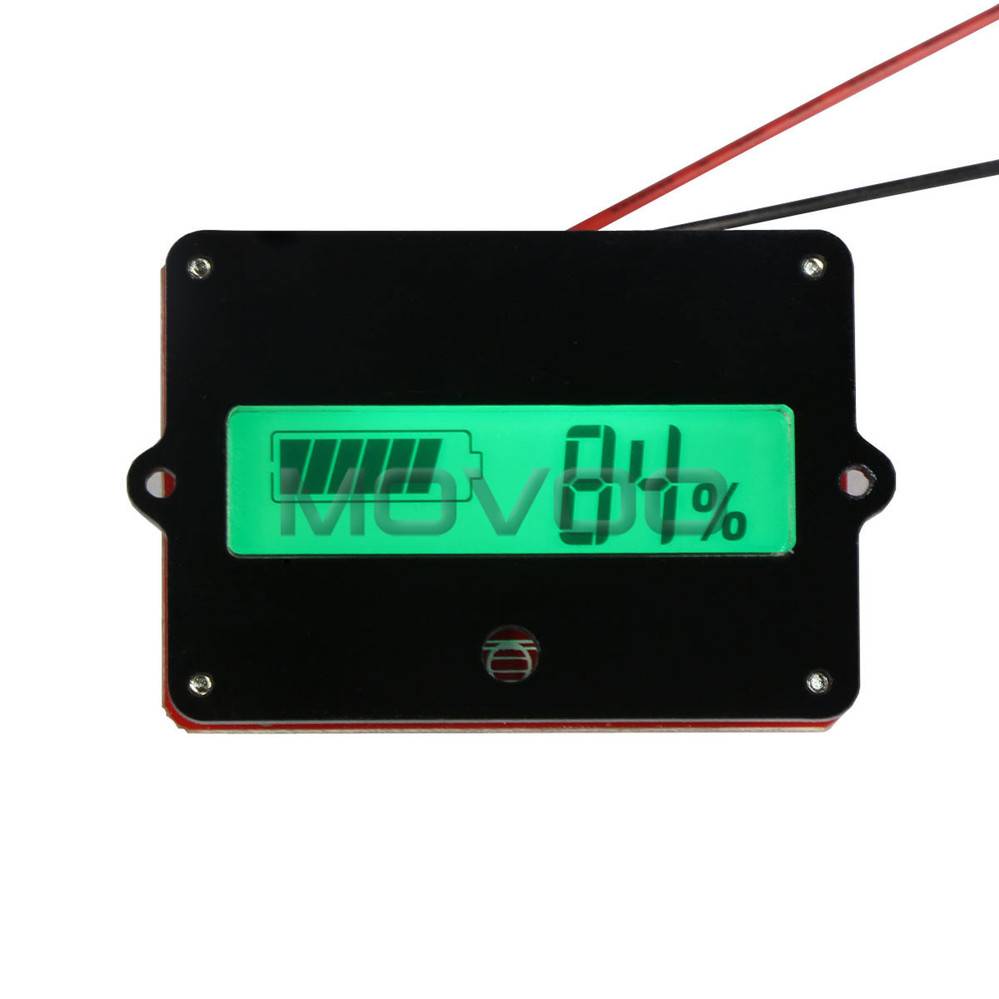 green backlight lcd battery capacity indicator tester dc 24v battery monitor meter for 24v lead. Black Bedroom Furniture Sets. Home Design Ideas