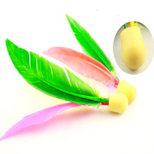 New Arrive  wholesale price  Beach Entertainment Hand Feather ball Shuttlecock Jian ball Cricket Ball(China (Mainland))