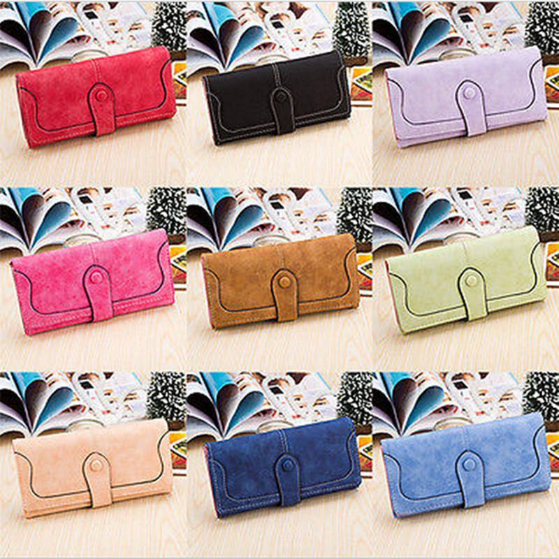 2015 New Desigh 9Colors Fashion Lady Women PU Leather Purse Long Popular Wallet Handbags Card Holder Bags Brand New N697(China (Mainland))
