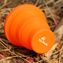 Camping Silicon Folding Mug Portable Outdoor Camping Tableware Cup Bottle Fire Maple FMP-319 200ml 44g Free Shipping(China (Mainland))