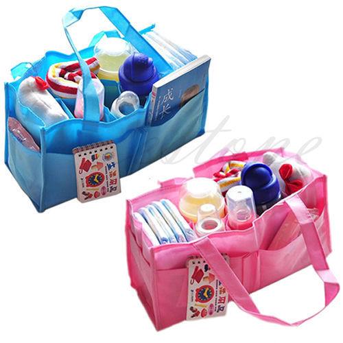 -Free Shipping Cute Travel Mother Bag Baby Infant Diaper Nappy Handbag Organizer Storage Hot(China (Mainland))