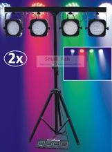 2xLot Free Ship 2016 Led Par Kit Mini 4 BAR LED RGB Par Can Stage Wash Tripod Light Lamp Stand Light System DJ Club Party Show(China (Mainland))