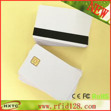 Free Shipping 20PCS/Lot Contact Sle4428 Chip Smart IC Blank PVC Card with Hi-Co Magnetic Stripe For MS R609 Mag Reader Writer(China (Mainland))