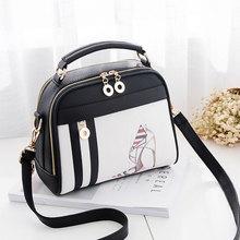 AOYI Для женщин сумка Сумки через плечо модный принт пляжная сумка вечером PU Кожаный клатч для леди Обувь для девочек сумки(China)