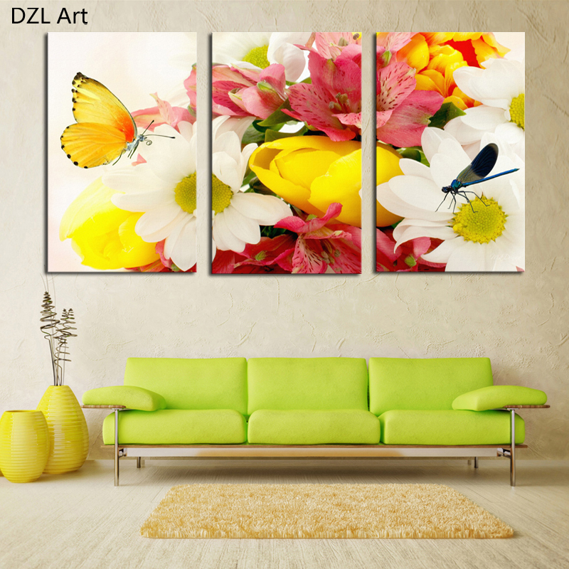 Buy 3 Piece Colorful Flowers And