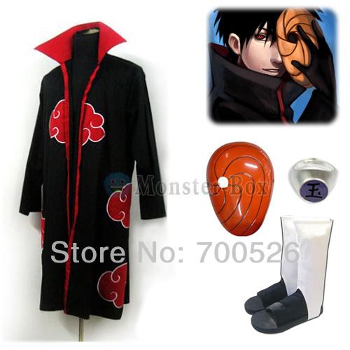 Naruto Uchiha Obito Madara Tobi Cosplay Costume Akatsuki