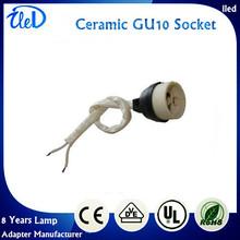 1000Pcs/lot Ceramic GU10 Socket With Cable For GU10 lamp base spot(China (Mainland))