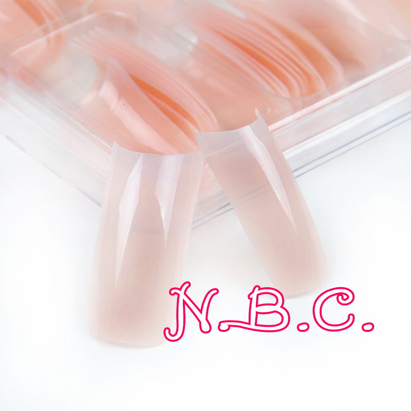 100 pc/box Nude pink Half Nail Tips South French Salon Acrylic Nail Art False Nail Tips For Manicure For Salon Tips Build