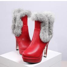 2016 tamaño Grande 30-48 Botas de Nieve Botas Mujer Botines de Moda marca Baja Talones Atractivos Otoño Invierno Para Mujer Zapatos de Nieve 5203-7(China (Mainland))