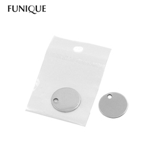 FUNIQUE 20mm Round Stainless Steel Pendant Stamping Blank Dog Tags Pendants Silver Tone Necklace DIY Jewelry With Package 10PCs(China (Mainland))