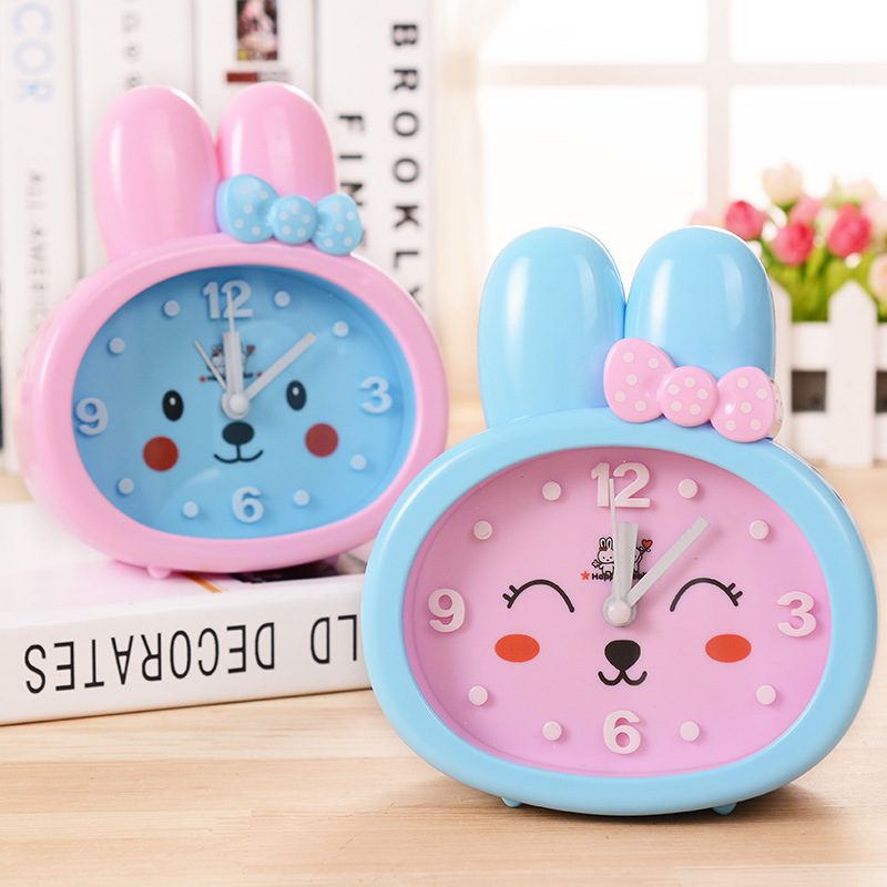 2016 new cartoon rabbit big digital clock student desk alarm Home Furnishing small gift bedroom decoration(China (Mainland))