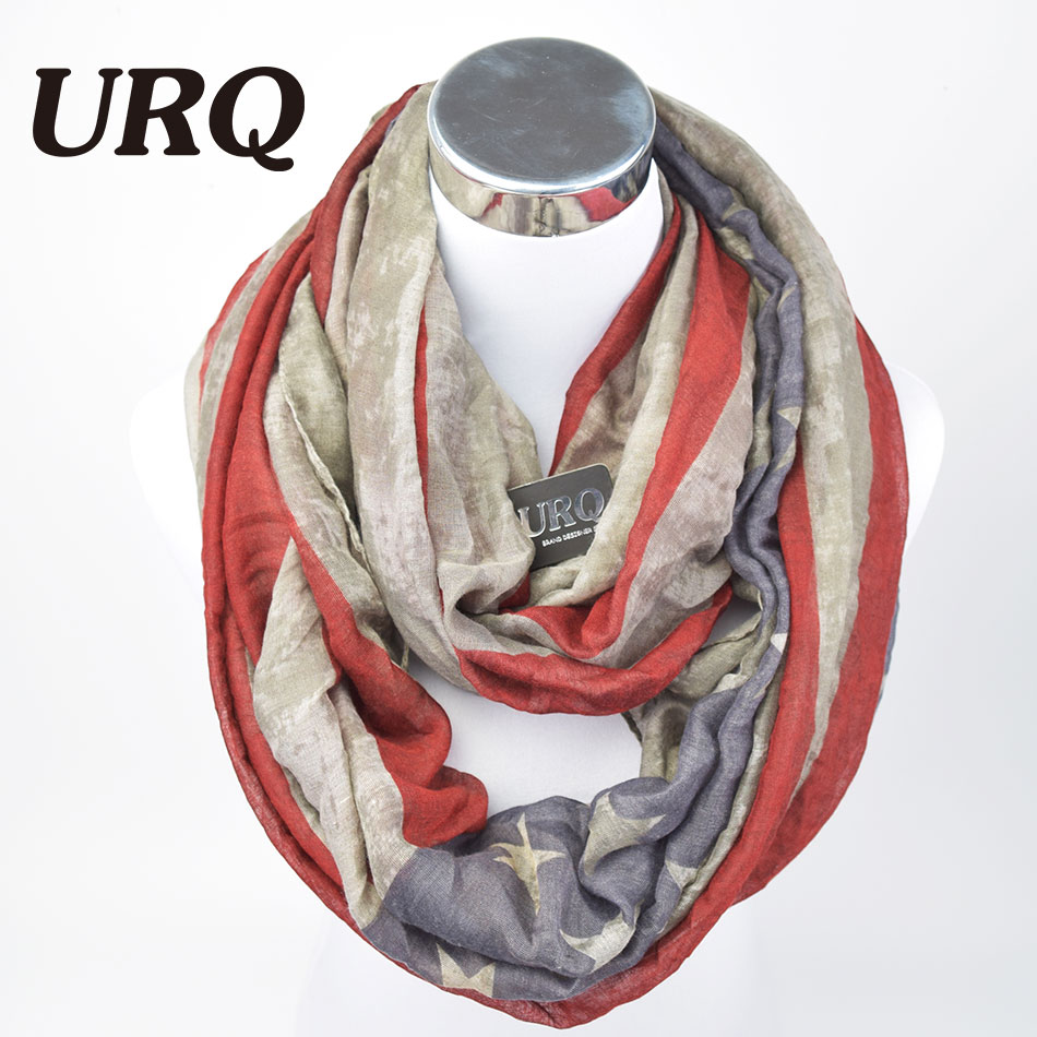 Winter Warm Neck Scarves New America Flag Print Sports Fan Ring Scarf Tube Scarfs Infinity Woman Scarf V8A184431(China (Mainland))