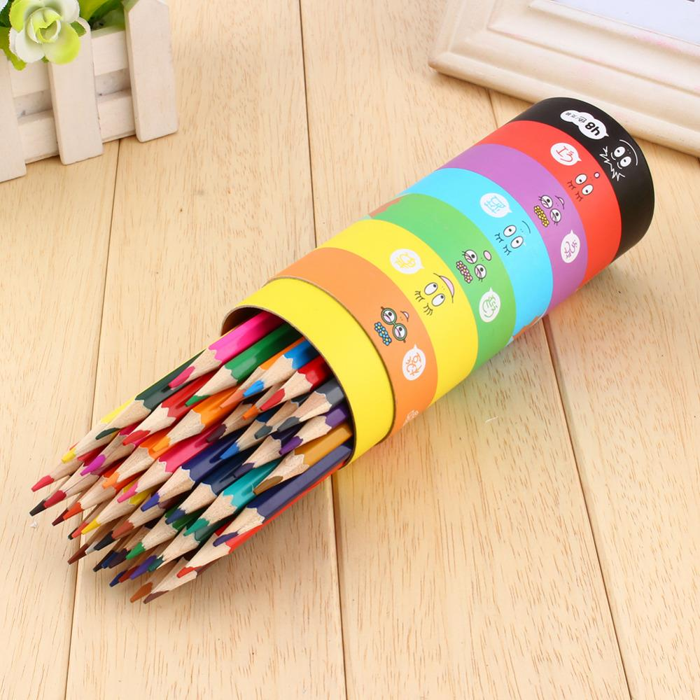 New 48pcs Colorful Colored Smooth Pencils For Student School Sketch Painting Drawing Gift<br><br>Aliexpress