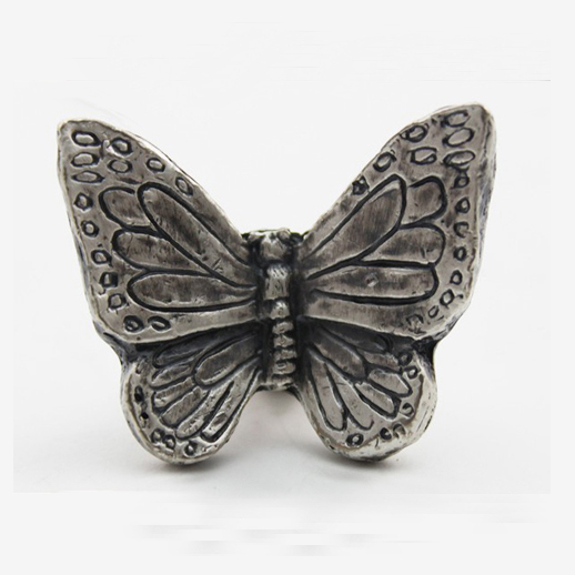New classical European contracted style cupboard door drawer knobs ancient silver furniture handle/butterfly pulls(China (Mainland))