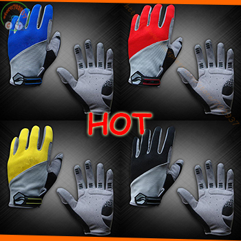 NEW Full finger Brand men Cycling gloves racing road Mountain bike silicone gel breathable gloves Bicycle Wholesale Prices(China (Mainland))