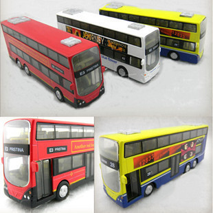 Free shipping Old classic British London double-decker bus bus light back in version of alloy car models