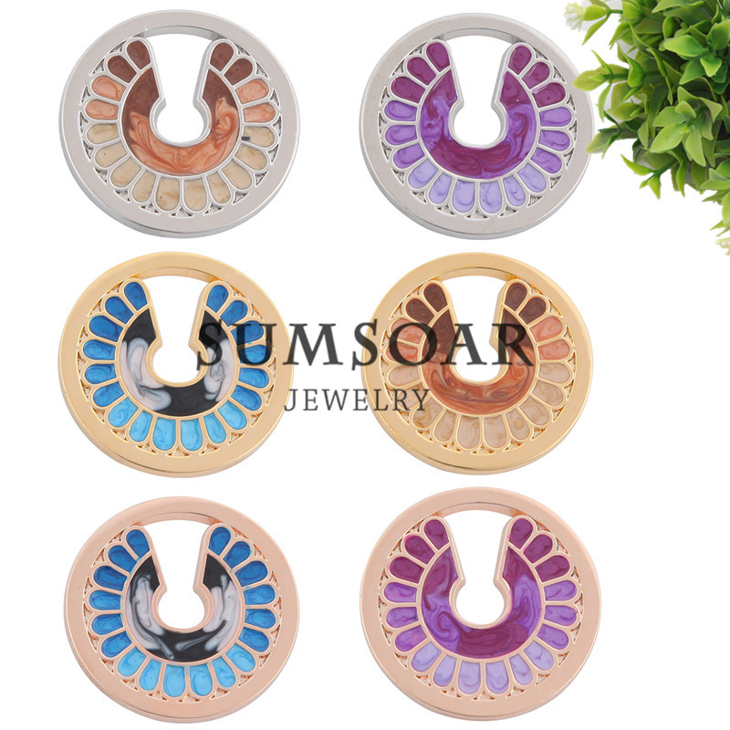 Sumsoar Jewelry Tropical Coin Mixed Purple Black Pacific Blue Color 33mm Disc fit My Coin Holder Frame Pendant 10pcs/lot(China (Mainland))